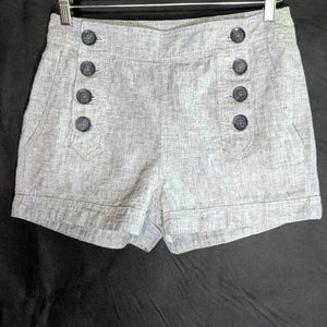 Express Linen Blend Sailor Shorts